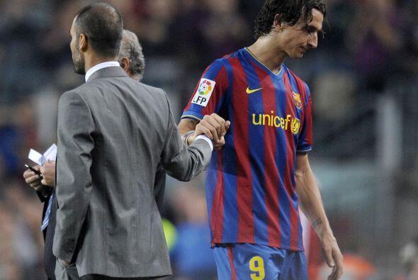 Guardiola Vs. Ibrahimovic. Zlatan Ibrahimovic jugó solo una tempo...