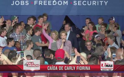 Carly Fiorina sufre caída