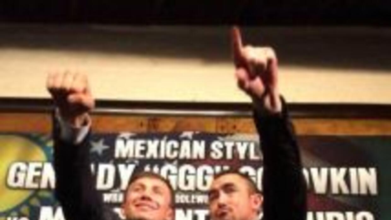 Golovkin y Rubio presentaron 'Estilo Mexicano' (Foto: Promociones del Pu...