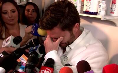 Julián Gil llora ante las cámaras al hablar de su situación con Marjorie...