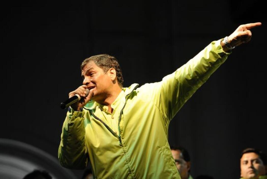 Rafael Correa ha recorrido el país promocionando el referendo.