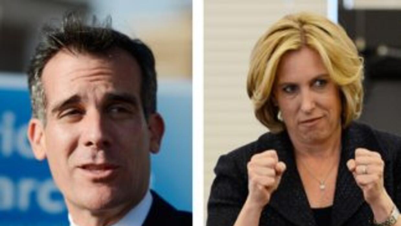 El edil Eric Garcetti, de 42 años, y la contable Wendy Greuel, de 51 años.