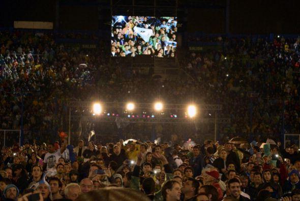 El estadio de  Vélez Sarsfield lució sus mejores galas, se vio pletórico.