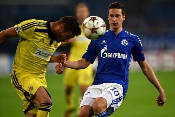 Por lo que el Schalke tuvo que vienir de atrás para empatar el juego.