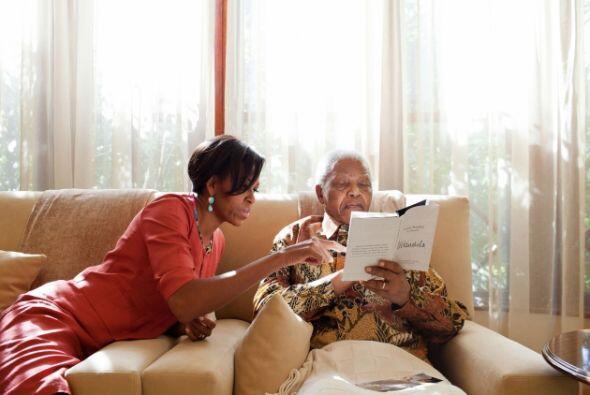 Fue en junio de 2011 que la primera dama se reunió con el fallecido expr...