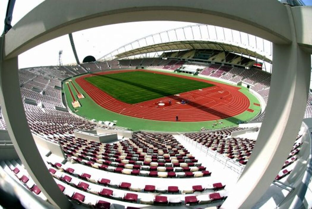 Khalifa International Stadium (Al-Rayyan), con lugar para 68.030 especta...