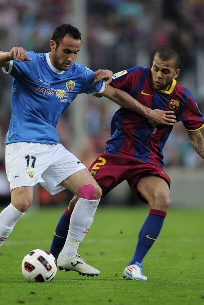 El Barcelona se enfrentó al Almería y el partido resultó más complicado...