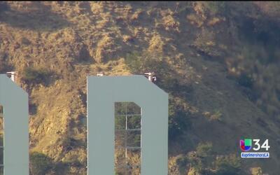 Bromista es arrestado por subir al letrero de Hollywood