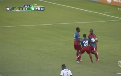 Belice saca beneficio de un controversial penal y hace el 1-1