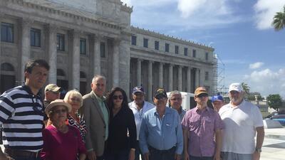 Veteranos puertorriqueños protestan frente al Capitolio