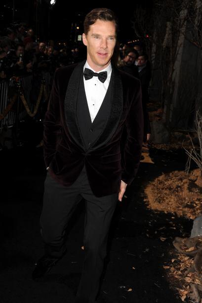 Uno de los más elegantes de la noche indudablemente fue Benedict Cumberb...