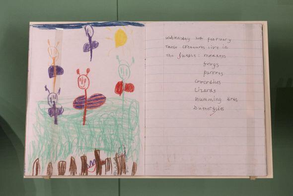 Este es un dibujo que realizó el príncipe William cuando tenía cinco años.