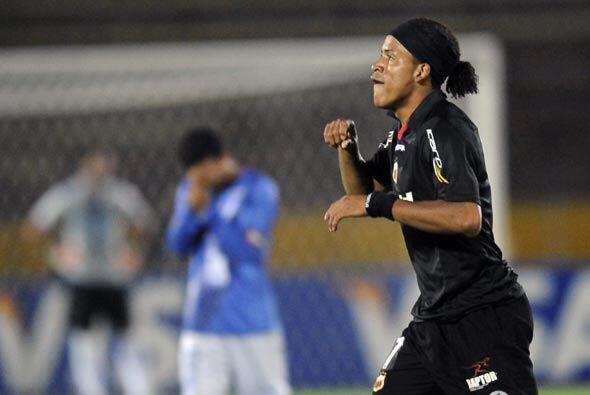 Michael Arroyo, ex Emelec, fue al autor del único gol del partido...