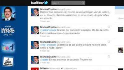 El ex presidente del PAN, Manuel Espino provocó polémica por sus mensaj...