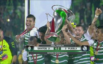 Santos gana la Copa MX con penaltis sobre Puebla