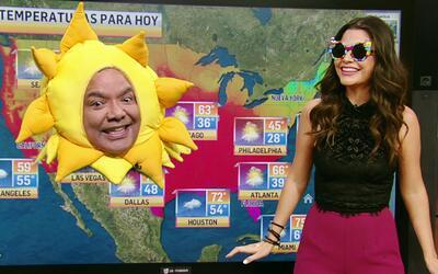 Y mientras Ana Patricia daba su reporte del clima... apareció el Señor Sol