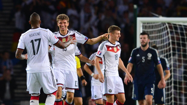 Alemania sufrió pero derrotó a Escocia