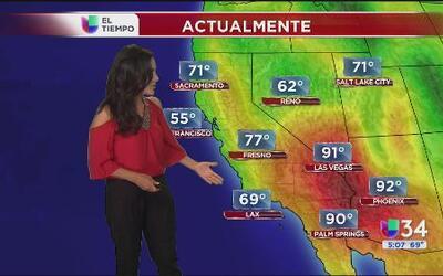Seguirán las altas temperaturas este jueves en Los Ángeles