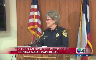 Cancelan orden de restricción contra Susan Pamerleau