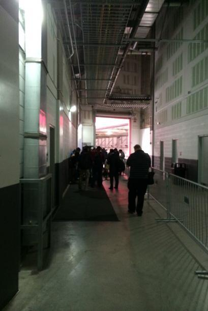 Este es el túnel por el que los cuadros saltarán a la cancha para renova...