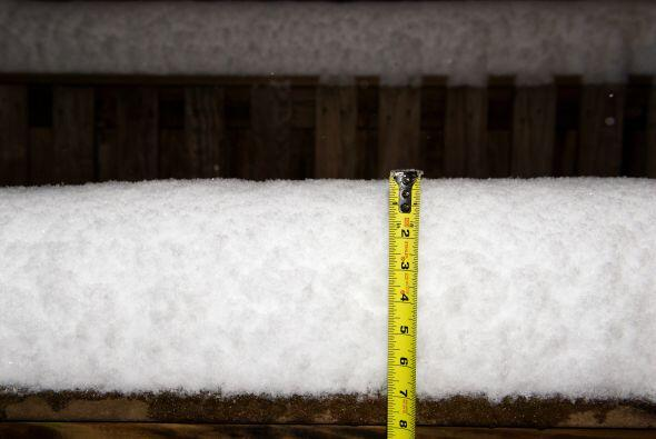 La mejor evidencia de la acumulación de nieve la mañana de este lunes en...