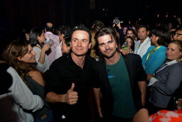 Juanes y Fonseca también gozaron de la música de Carlos Vives