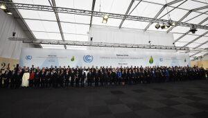 Foto de representantes del COP 21