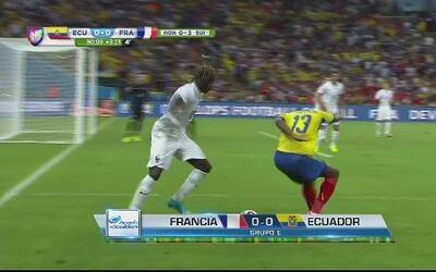 Empate a 0 entre Ecuador y Francia en el Mundial 2014