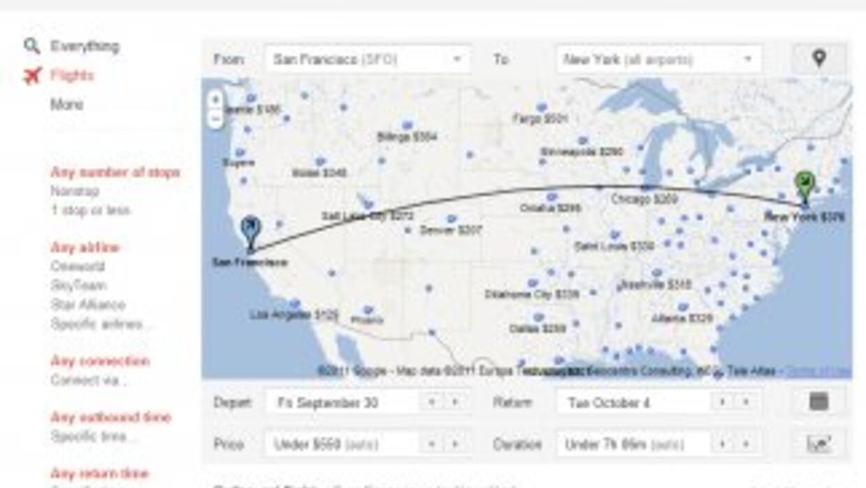 Google Flights te ayudará a obtener tarifas bajas en Internet.