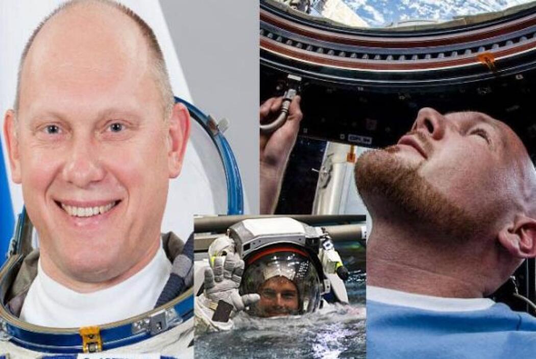 Oleg Artemyev, Alexander Gerst y Reid Wiseman forman parte de la Estació...