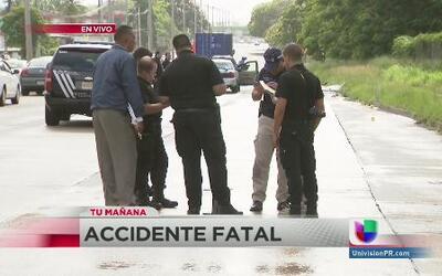 Accidente fatal paralizó el transito en la mañana