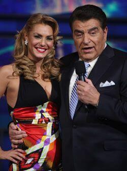 Rosina Grosso es una de las modelos que acompaña al Don todos los sábado...