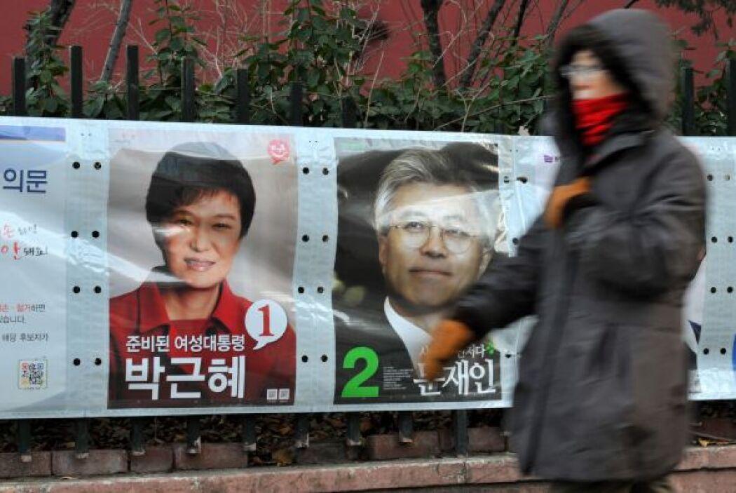 La batalla entre los dos principales contendientes -la conservadora Park...