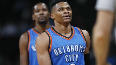 Westbrook aportó 13 puntos, 14 rebotes y 12 asistencias.