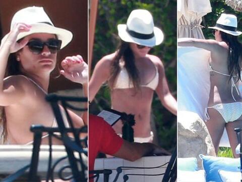 Las cámaras de los paparazzi siguieron a la estrella de 'Glee' en...