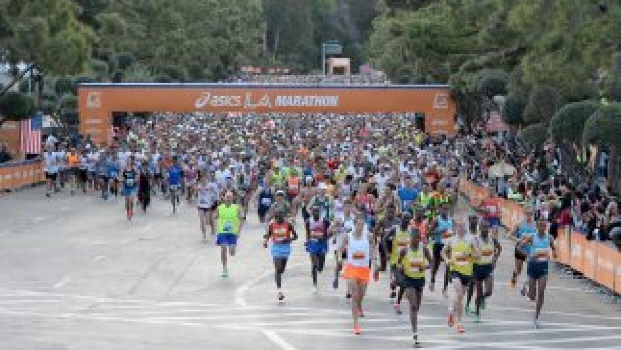 Imagen edición anterior del Maratón de Los Ángeles.