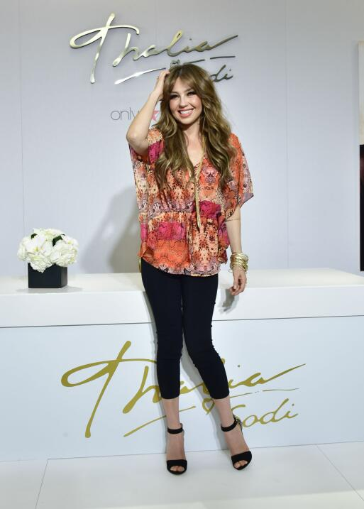 Thalia attends Macy's Welcomes Thalia To Roosevelt Field on May 5, 2...
