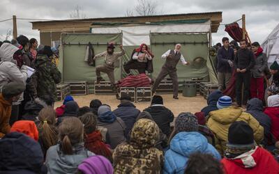 El campamento de refugiados fue escenario de numerosas obras e incluso d...