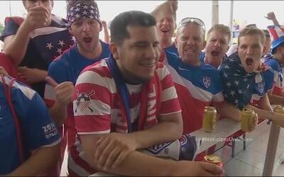 Estados Unidos festeja su triunfo contra Ghana