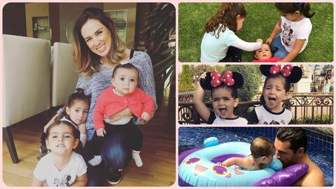 Jacky Bracamontes y sus hijas.