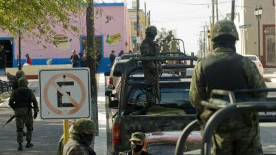 Soldados mexicanos en Tamaulipas.