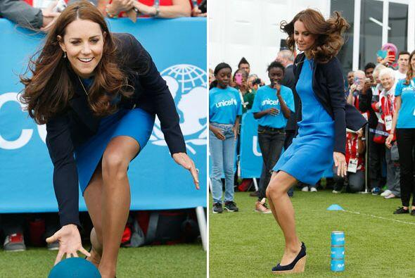 ¡Qué divertida se dio Kate Middleton!