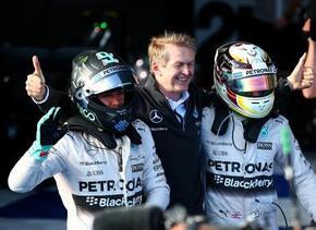 Mercedes comenzó la temporada de F1 con doblete en el podio.