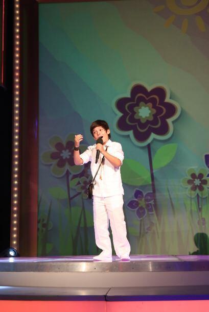 Este pequeño colombiano lo dejó todo sobre el escenario.