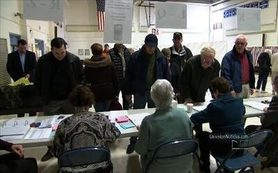 Organizaciones promueven la idea que el sistema electoral de EEUU está p...