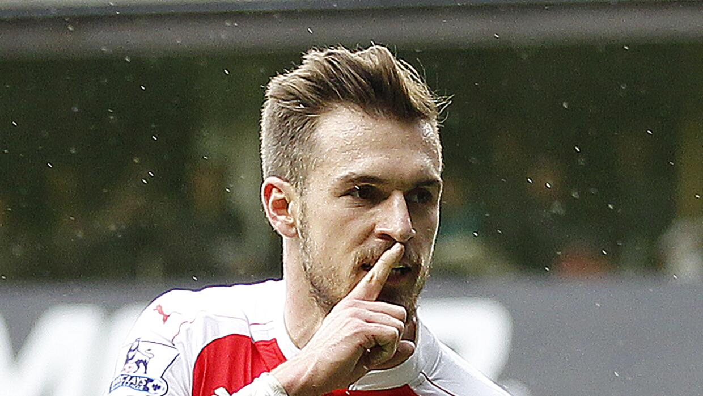 Ramsey marcó ante los Spurs