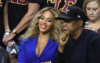 CLEVELAND, OH - JUNE 16: Beyonce and Jay Z attend Game 6 of the 2016 NBA...