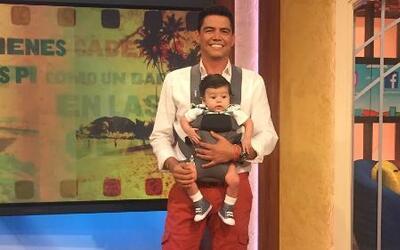 Detrás de cámaras: Baby Joshua fue la sensación al visitar a su papá Orl...