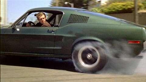 Steve McQueen durante el rodaje de 'Bullitt'