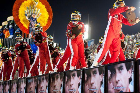 El piloto fue el gran protagonista del último carnaval de Río de Janeiro...